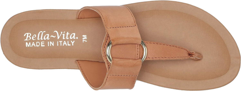 Bella Vita Women's Flat Sandal Tan Leather