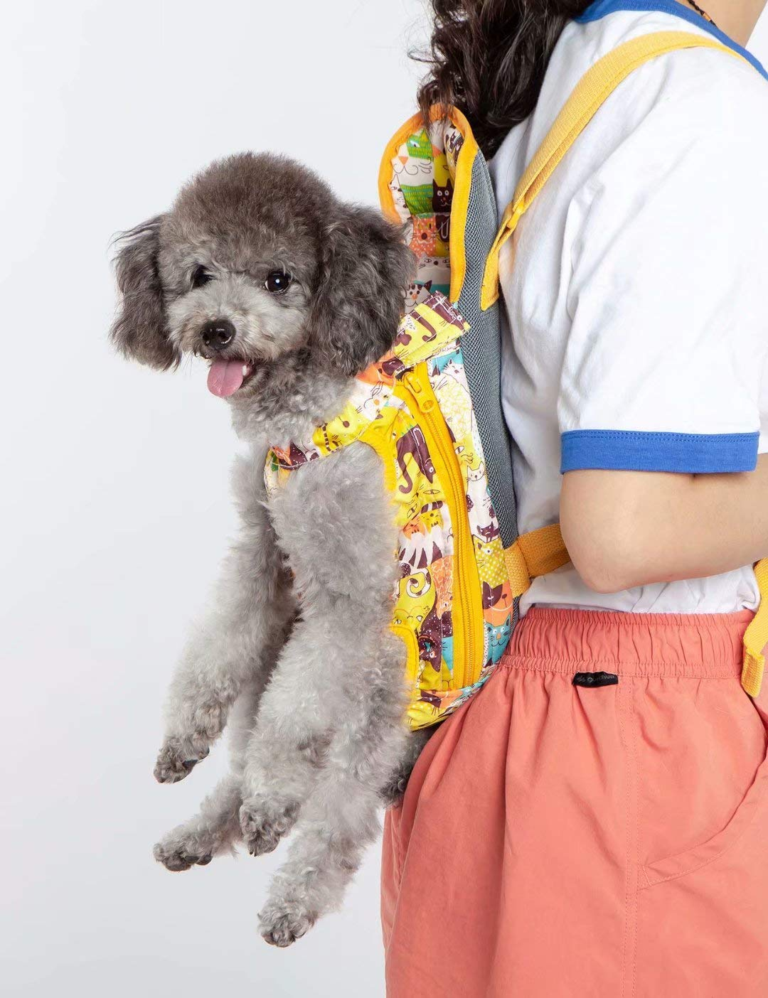 Touchdog Legs Out Front Dog Carrier Hands-Free Adjustable Pet Backpack Carrier Soft fabric