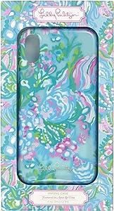 Lilly Pulitzer Women's Blue iPhone XR Case, Aqua La Vista