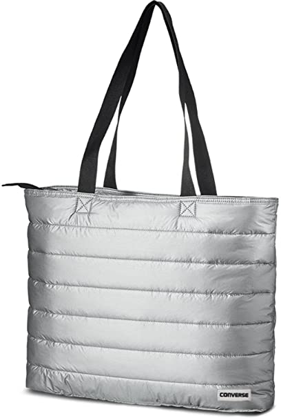 95cb5ba1a4fe Converse Packable Carry All Tote Bag-Metallic Silver  Amazon.ca  Clothing    Accessories