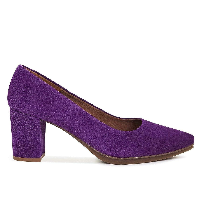 Zapatos Salón. Zapatos Piel Mujer Hechos EN ESPAÑA. Zapatos Tacón Violeta. Zapato Mimao. Zapatos Mujer Tacón. Zapatos Mujer Fiesta y Baile Latino. Zapato Cómodo Mujer con Plantilla Confort Gel