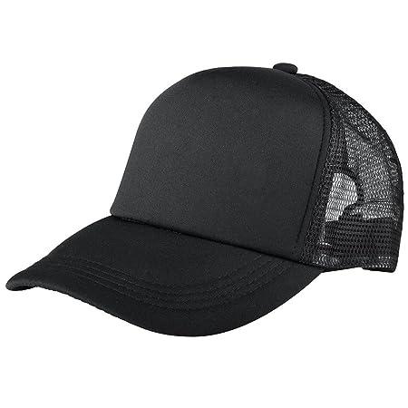 Trucker Hat Baseball Cap Mesh Caps Blank Plain Hats Black  Amazon.co.uk   Kitchen   Home 62411170cac