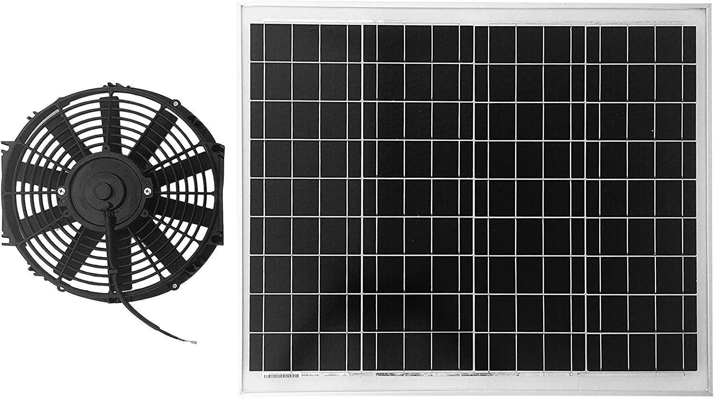 Panel Solar de 70 W, ventilador de alta potencia motor, 10 años de ...