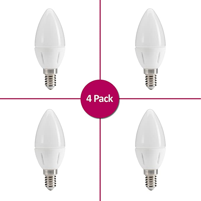 Auraglow 3 Step Switch LED Bombilla regulable sin regulador 5.5w, 40w EQV - Warm White 3000K - E14 Candle - Paquete de 8: Amazon.es: Iluminación