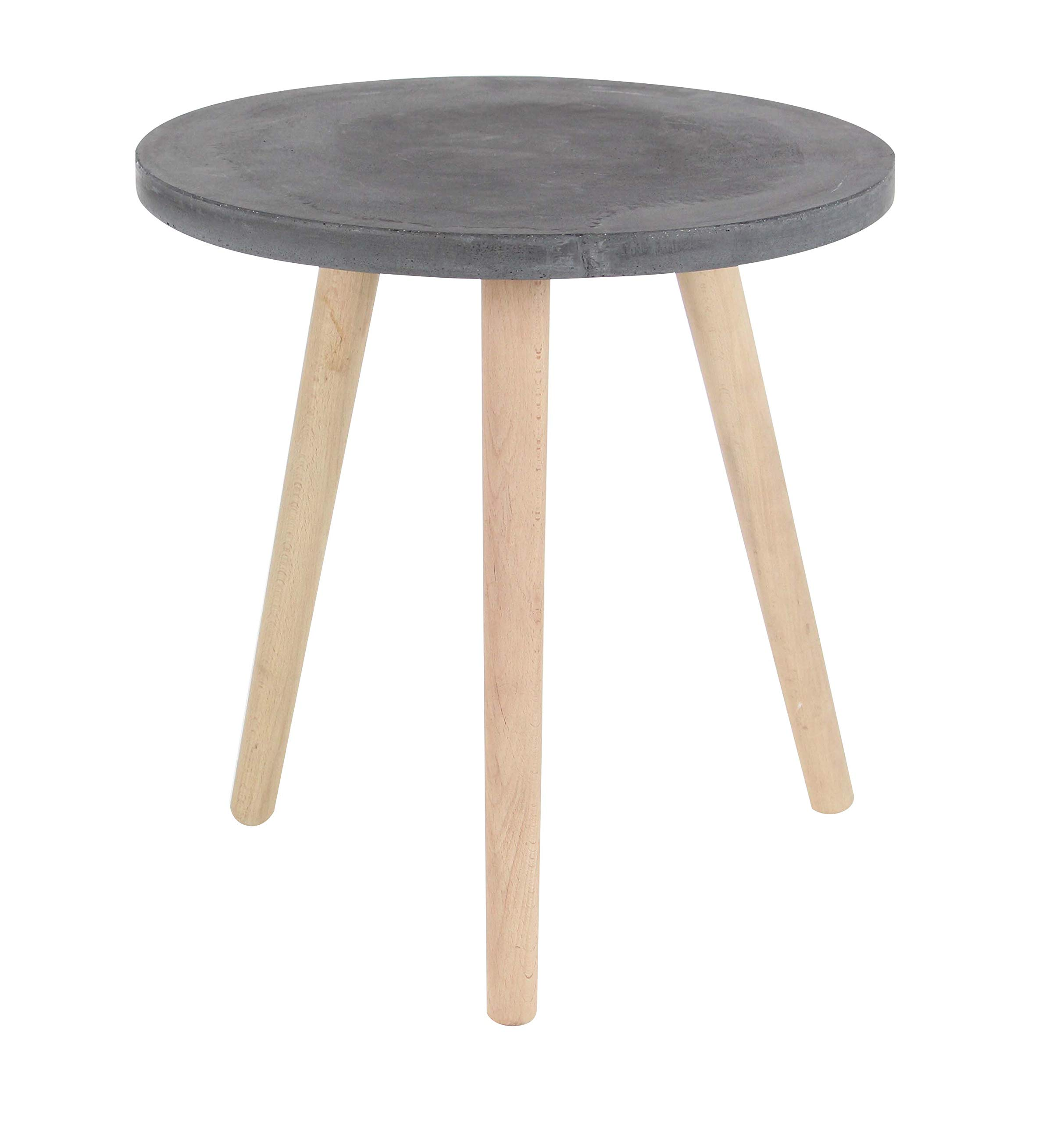 Deco 79 Wood and Fiber Clay Table Black/Brown by Deco 79