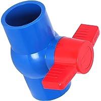 LAQI Valvola di intercettazione Valvola a Tubo spinato Raccordo per Tubo Doppia Testa Valvola a Sfera in Ottone Rubinetto Adattatore connettore per Acqua Gasolio