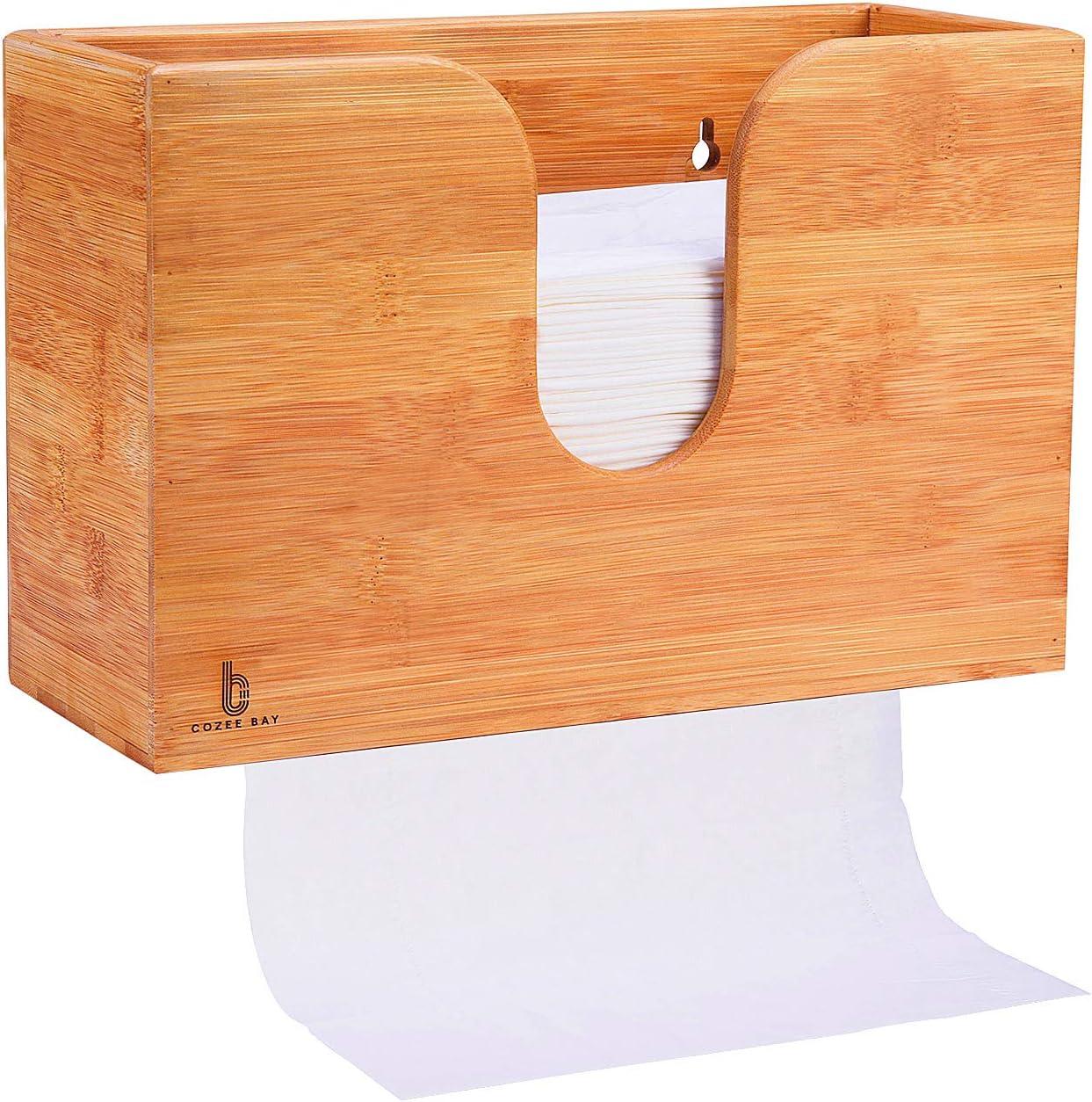 Cozee Bay Bamboo Kitchen Paper Towel Dispenser