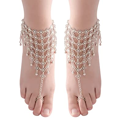 Trustful Charm Anklet Bracelet Chain Silver Vintage Boho Beach Wedding Barefoot Sandal Anklets Jewelry & Watches