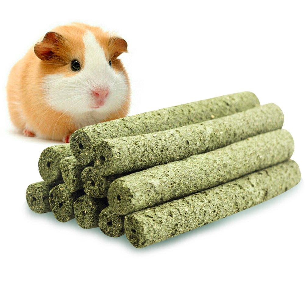 ULIGOTA Pet Chew Treats Timothy Grass Powder Molar Rod Chew Sticks Toy Rabbit Chew Toy Snacks Guinea Pigs Chinchilla Hamster- 20 Sticks(7.5oz)