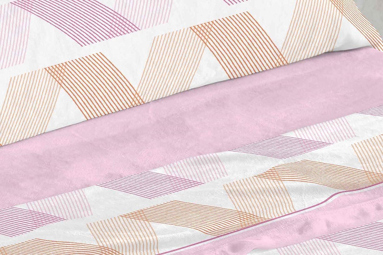 Tacto Suave con Dise/ño Estampado Geom/étrico en Azul. Burrito Blanco Juego de S/ábanas de Coralina 959 Azul para Cama de 90 x 190 hasta 90 x 200 cm Muy C/álido y Ligero