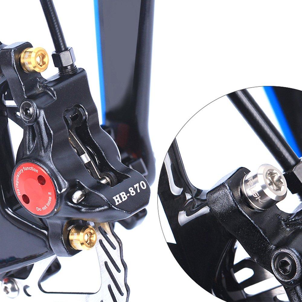 Lixada RISK 4PCS M6×18//20mm Titanium Ti Bolts Screws for MTB Disc