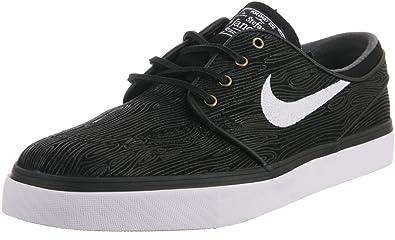 bf1c9cf033a5 Nike Stefan Janoski Premium SE Black White Skate Shoes - 8