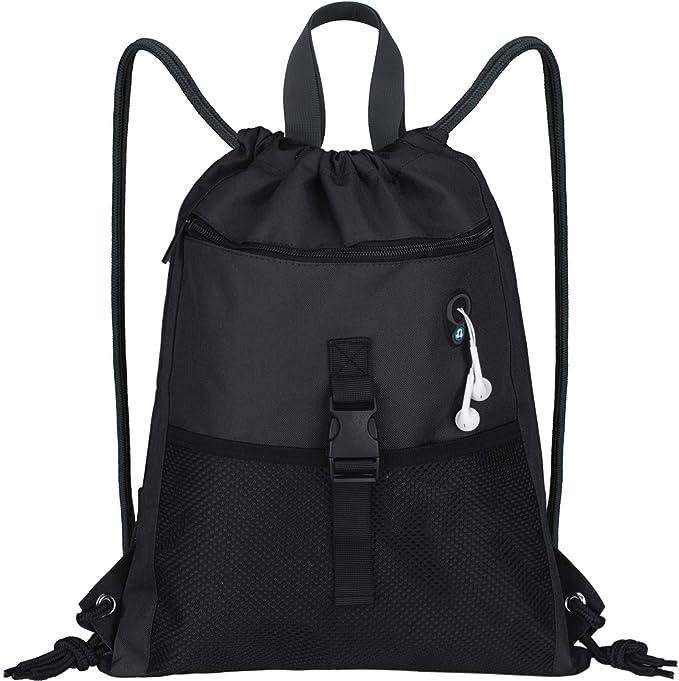 Shiba Inu Pizza Dog Drawstring Bags Lightweight Gym Sport Backpack for Travel Beach Yoga