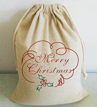 Amazon.com: Grande Burlap Sacos de Navidad Navidad bolsas ...