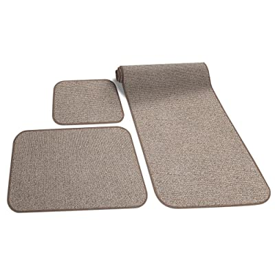 Prest-O-Fit 5-0258 Decorian 3 Piece RV Rug Set Sandstone Beige: Automotive
