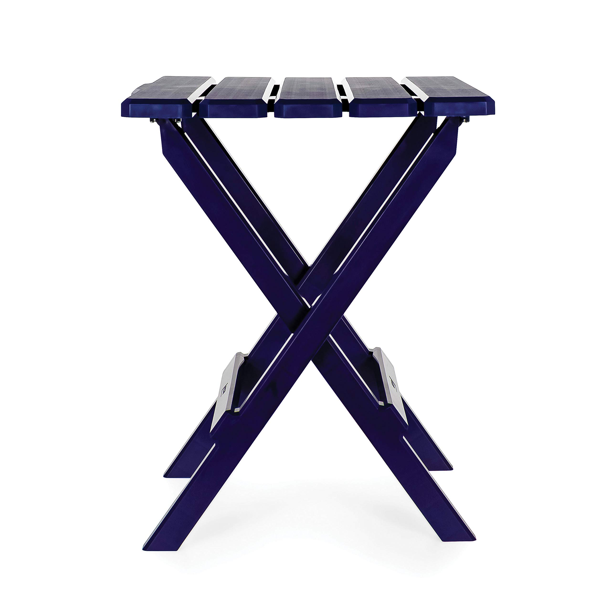 Camco 51693 Navy Large Adirondack Portable Outdoor Folding Side Table, Perfect for The Beach, Camping, Picnics, Cookouts and More, Weatherproof and Rust Resistant by Camco