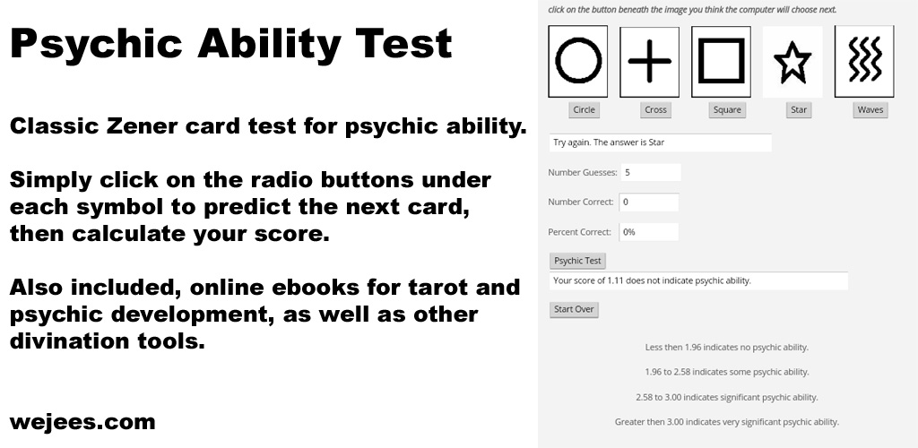 Zener Psychic Ability Test - Import It All
