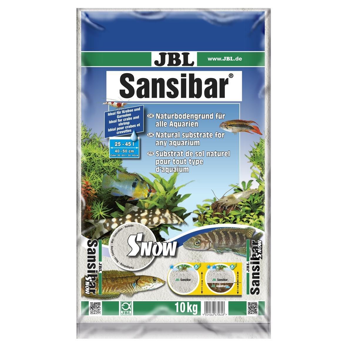 JBL Sansibar SNOW 5kg - Substrat de sol blanc neige pour aquariums d'eau douce ou d'eau de mer et aqua-terrariums 6706000