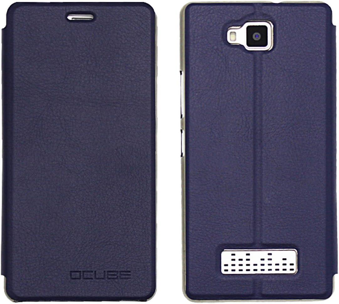Guran® Funda de Cuero para CUBOT Echo Smartphone con Función de Soporte Flip Case Cover-Azul Marino: Amazon.es: Electrónica