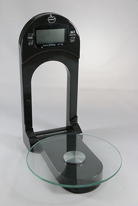 Mastrad F76200 - Báscula de cocina para pared, color negro