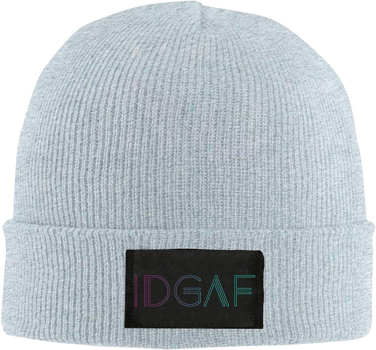IDGAF Men /& Womens Knitted Hat Stretchy Skull Cap