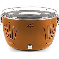 Tischgrill El Fuego AY5253 klein Edelstahl Stahl Kunststoff bronze Camping Balkon Picknick ✔ rund ✔ tragbar rauchfrei ✔ Grillen mit Holzkohle ✔ für den Tisch