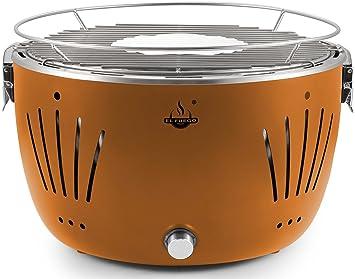 Weber Holzkohlegrill Rauchfrei : El fuego holzkohlegrill tulsa grill bbq barbecue farbe orange usb
