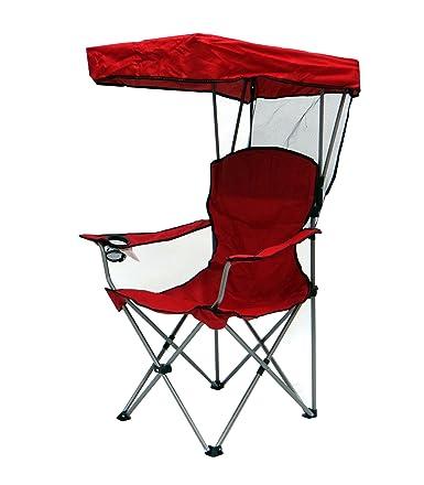 Amazon.com: El Capitán De Bazar silla con dosel, en color rojo