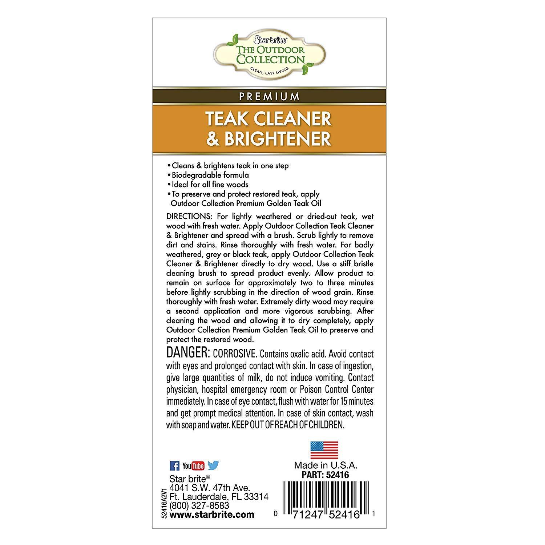 Star brite One-Step Teak Cleaner & Brightener 16 oz (Тhrее Pаck) by Star Brite (Image #2)