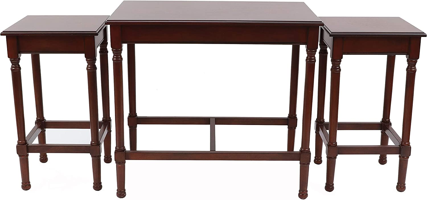 Decor Therapy Nesting Tables, Aged Cherry