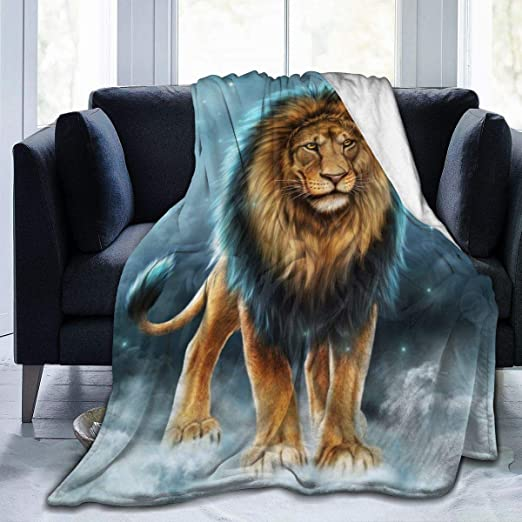 Luxury Quality Soft Cosy Lion Animal Print Throws Sofa Bed Blanket Polyester