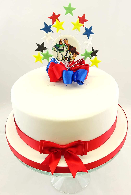 Fabulous Toy Story Buzz Woody Jessie Star Burst Birthday Cake Topper Funny Birthday Cards Online Alyptdamsfinfo