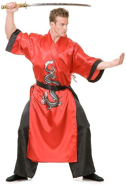 Amazon.com: Charades Red Samurai Ninja Adult Costume As ...
