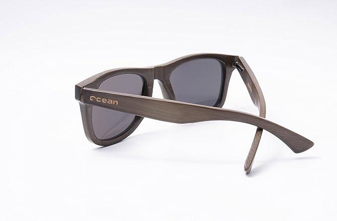 Ocean Sunglasses wood Victoria - lunettes de soleil polarisées en Bambou - Monture : Marron - Verres : Revo Orange (53003.2) iRsSk