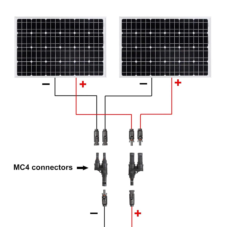 TSSS 2 Paar 3m 12AWG MC4 Kabel Solar Panel Stecker Verteiler 4.0 mm Single Core Verl/ängerungskabel Stecker Buchse Solarenergie Photovoltaik Zubeh/ör f/ür Solarzellen und Solar Power Systems T/ÜV Bew/ährt