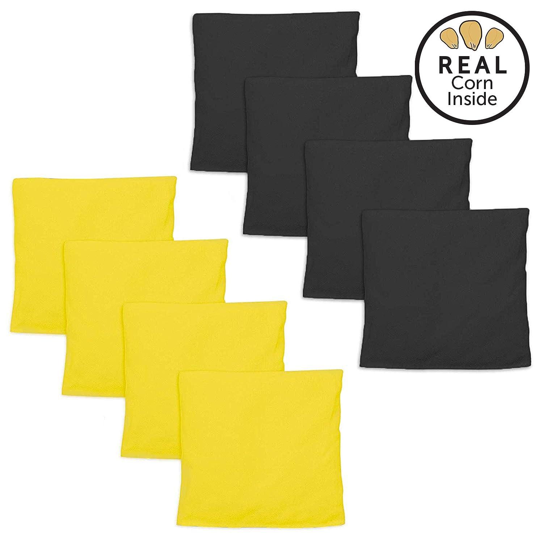 Play Platoon コーンホールバッグ コーンホールバッグ コーンホールゲーム用ビーンバッグ8個セット 7色の組み合わせ B07H5MSRQX イエロー&ブラック イエロー&ブラック
