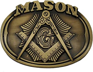 Mason Belt Buckle Brass