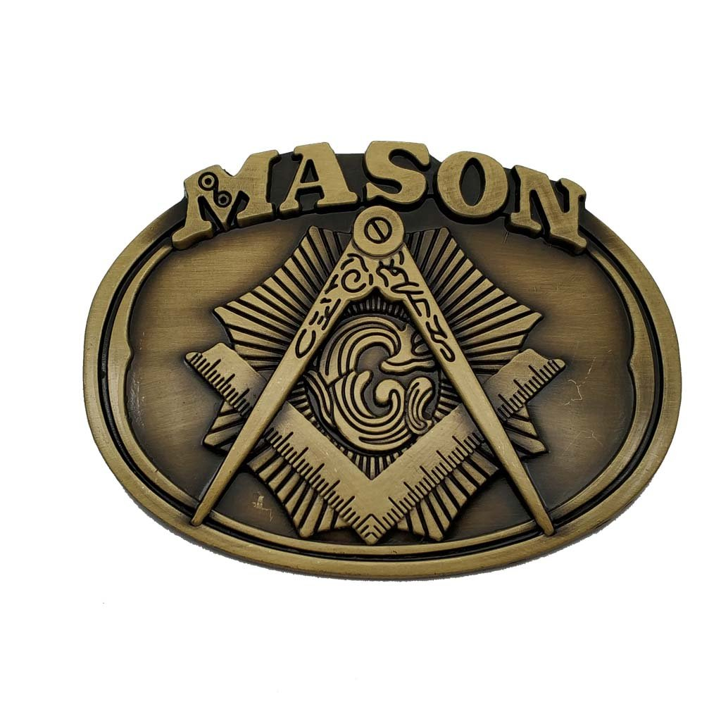 Mason Belt Buckle Brass 1-ONE