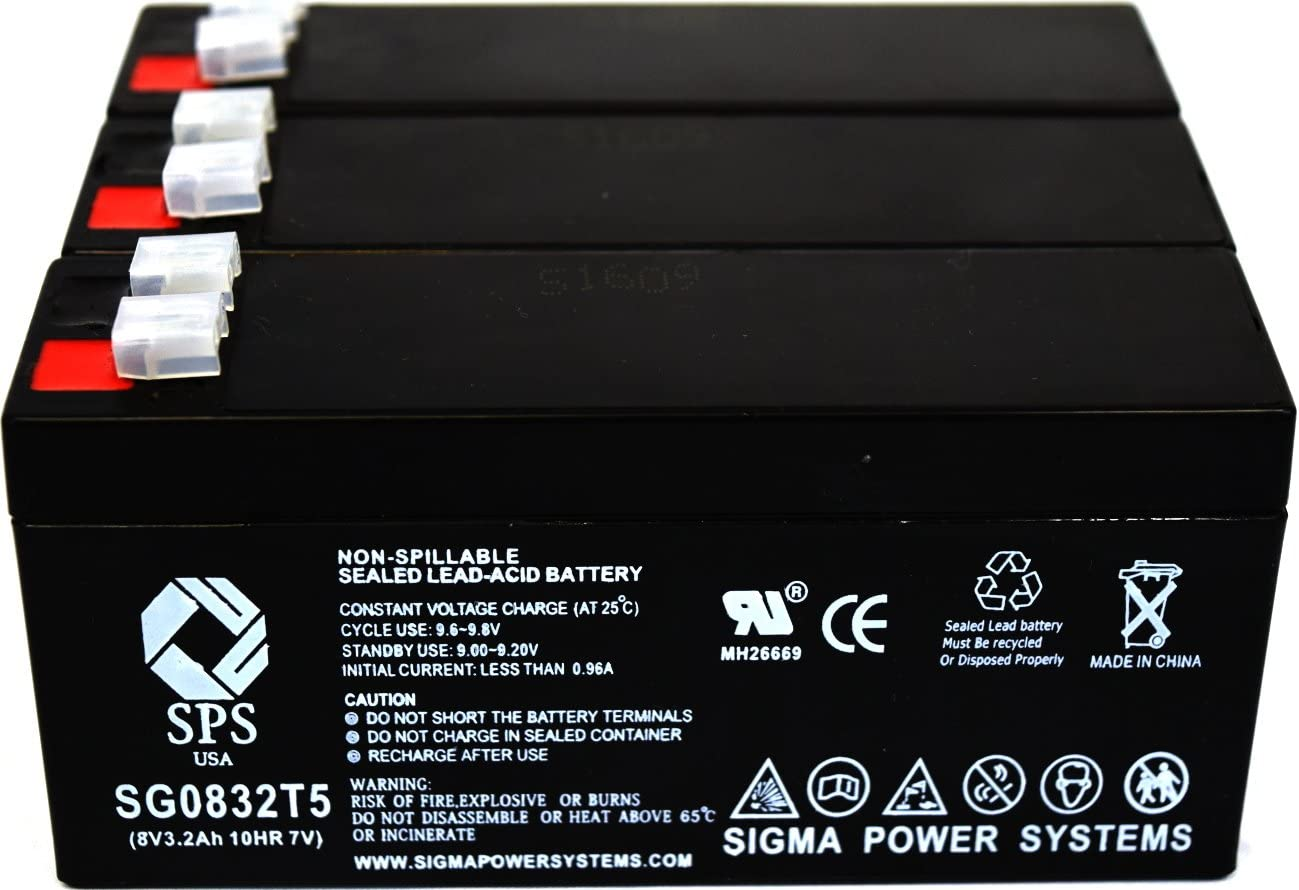 SPS Brand 6V 14 Ah Terminal T1T2 Replacement Battery for Replacement Battery for Werker WKA6-14A 2 Pack