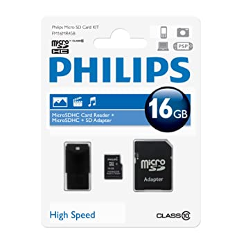 Philips FM16MR45B Memoria Flash 16 GB MicroSDHC Clase 10 ...