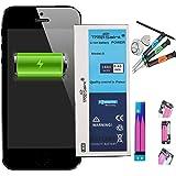 Trop Saint Batterie Interne pour iPhone 5-1440mAh Kit de Réparation avec Outils et Adhesifs