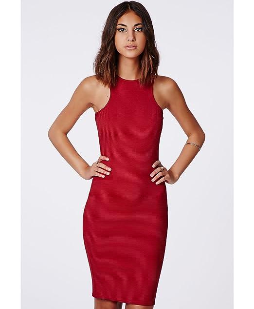 Para mujer inserciones Zara Midi inserciones Racer e instrucciones para hacer vestidos rojo