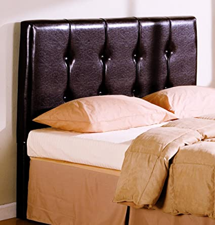 29cd1d3242b2 Amazon.com - Coaster Button-Tufted Design Leatherette Headboard ...