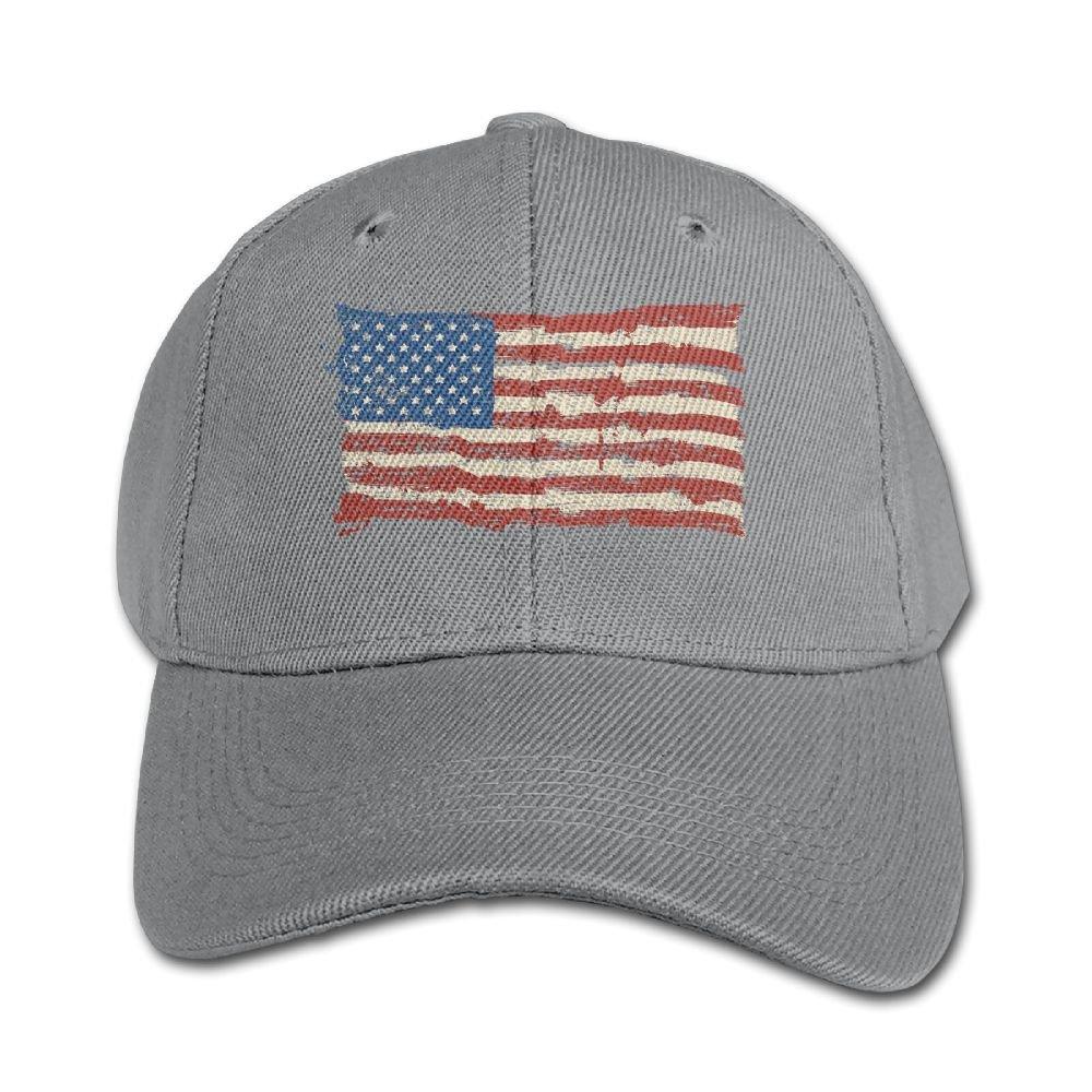 Qsjri NNNG Adjustable Baseball Caps Boy and Girl American Flag 5 Solid Color Hat