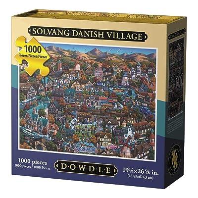 Dowdle Jigsaw Puzzle - Solvang Danish Village - 1000 Piece: Toys & Games