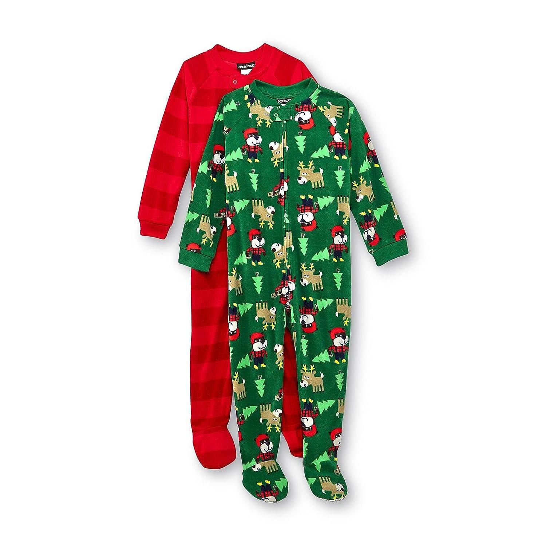 Amazon.com: Joe Boxer Baby Boy\'s 2-pack Footed Sleeper Pajamas (18M ...