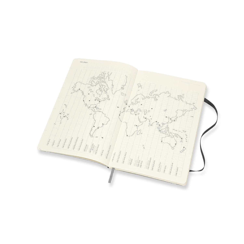 Amazon.com: Moleskine - Cuaderno semanal de 12 meses, grande ...