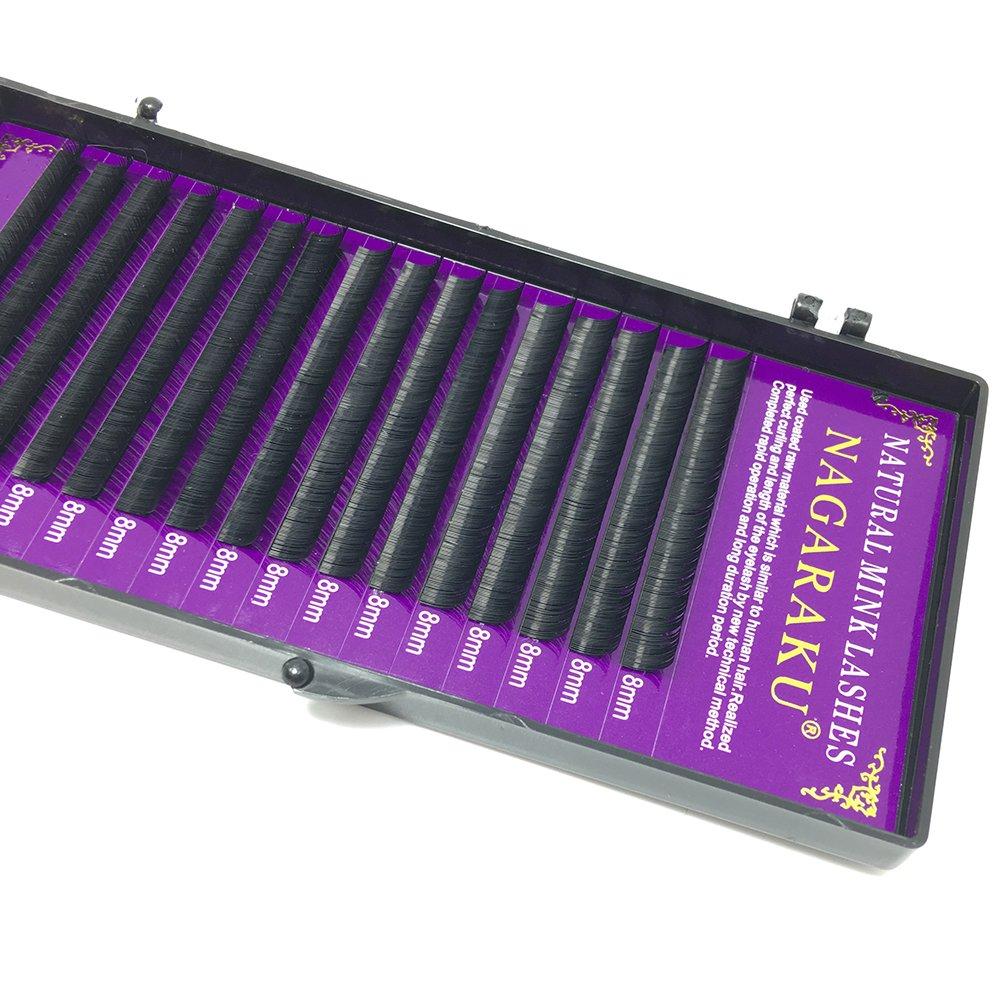 6fb65f51622 NAGARAKU 5 cases/lot High quality mink eyelash extension individual  eyelashes natural eyelashes make up maquiagem cilios size :(0.07D 11 12 13  14 15 mm): ...