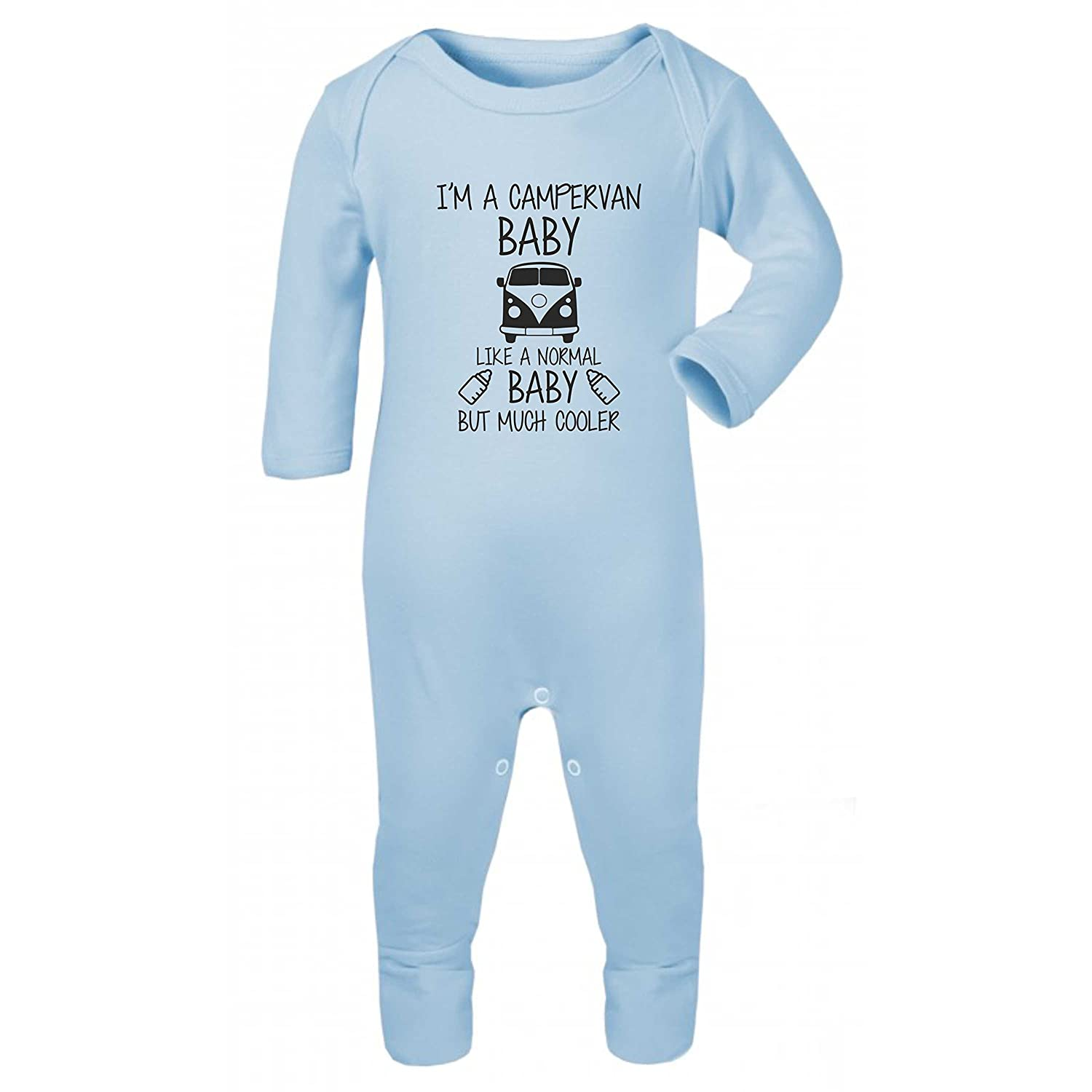 Embroidery and Print City Campervan Baby Funny Baby Rompersuit Sleepsuit