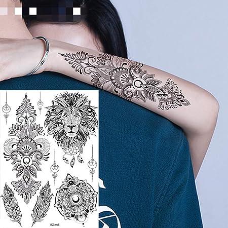 adgkitb 3 Piezas geométrica rombo Lobo Tatuaje Temporal Pegatina ...